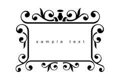 Iron design frame. Iron design elements - vector illustration Royalty Free Stock Photography