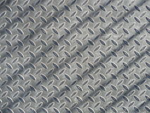 Iron diamond plate. With shadow of railing Stock Images