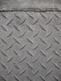 Iron diamond plate close-up Stock Photography