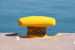 Iron dock cleat Royalty Free Stock Images