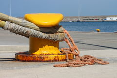 Iron dock cleat Royalty Free Stock Image
