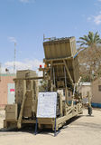 Iron Dome mobile all-weather air defense system. HATZERIM, ISRAEL - MAY 2, 2017: Iron Dome mobile all-weather air defense system developed by Rafael Advanced Royalty Free Stock Photos