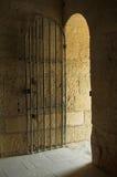 Iron door. Opened iron door in a castle Royalty Free Stock Photo
