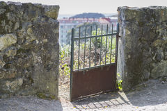 Iron door. Royalty Free Stock Image