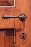 Iron door handle Royalty Free Stock Images