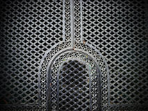 Iron door in the Muslim style. Royalty Free Stock Photos