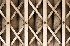 Iron door. Old iron door with steel pattern Royalty Free Stock Photos