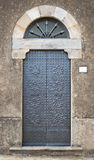 Iron Door from the Street. In Italy stock image
