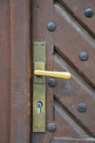 The iron doorhandle Royalty Free Stock Image
