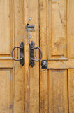 The iron doorhandle Royalty Free Stock Images