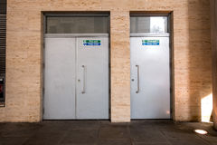 Free Iron Doors Of An Security Exit Royalty Free Stock Photo - 54112815