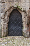 Iron doors. In old castle in Bohemia Stock Images