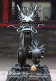 Iron dragon in one of parks, Beijing Royalty Free Stock Photography
