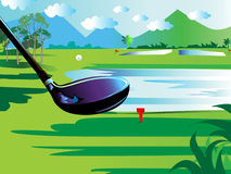Iron drive golf Royalty Free Stock Image