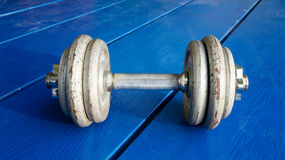 Iron dumbbell Royalty Free Stock Images