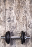 Iron dumbbell Royalty Free Stock Image