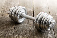 Iron dumbbell Royalty Free Stock Photography