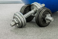Iron Dumbbell Stock Images
