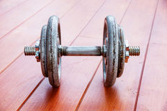 Iron dumbbell Royalty Free Stock Photos