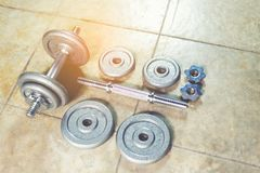 Dumbbell set. Royalty Free Stock Photography