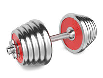 Iron Dumbbells Weight on White Background. 3d Stock Photo