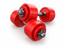 Iron dumbbells weights Stock Images