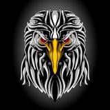 Iron eagle head royalty free illustration