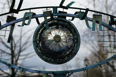 Iron eyes. Art object depicting metallic eye Royalty Free Stock Photos