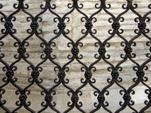 Iron fence. Black color decorative iron fence Stock Images