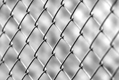 Iron fence. In black & white Stock Images