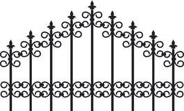 Iron fence Royalty Free Stock Image
