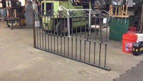 Iron fence in blacksmith shop