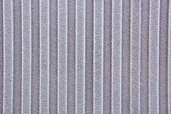 Iron fence covered with frost Royalty Free Stock Images