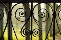 Iron fence details Stock Photos