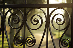Iron fence details Stock Images