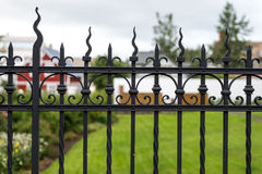 Iron fence details royalty free stock photos