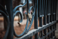 Iron fence element Stock Images