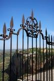 Iron fence railing, Ronda, Spain. Royalty Free Stock Images