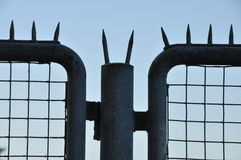 Iron fence with thorns Stock Photography