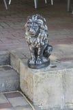 Iron figurine of lion Stock Image
