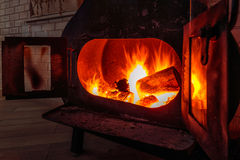 Iron fireplace Royalty Free Stock Images
