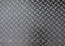 Iron floor surface photo. Metal relief for walking path in construction area Stock Images
