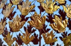 Iron Flowers on the temple  at Royal Park Rajapruek chia Stock Photos