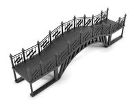Iron footbridge on white background. 3 d rendering Stock Photos