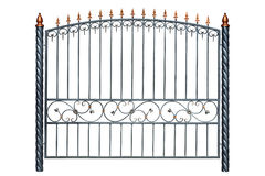 Iron forged fence. Stock Images
