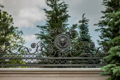 Iron forged large gate Stock Photography