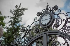 Iron forged large gate Royalty Free Stock Photography
