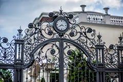 Iron forged large gate Royalty Free Stock Image