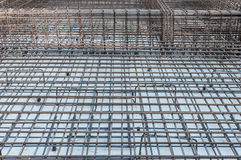Iron foundation construction detail Stock Image