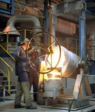 Iron foundry. In Klodzko, Poland- moulder at work Royalty Free Stock Photography